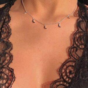 Collar gargantilla Medias Lunas