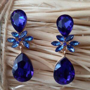 Pendientes Azul Zafiro